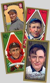 T205 Christy Mathewson, Ty Cobb, Addie Joss, Jack Dunn